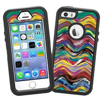 "Wavy Paint Swirls ""Protective Decal Skin"" for OtterBox Defender iPhone 5s Case"