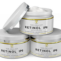 Retinol iP6 Night Cream, HUGE 4 OZ Moisturizer for Face & Eyes - Anti Aging & Anti Wrinkle Firming Cream for Fine Lines, Wrinkles & Dry Skin, Natural Lotion with Vitamin C, E, Resveratrol & Collagen
