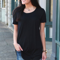 Emma's Basic Short Sleeve Top {Black}