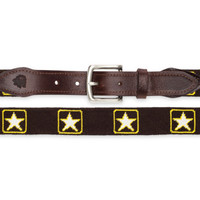 Traditional Army Needlepoint Belt
