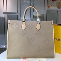 Louis Vuitton LV Women Shopping Leather Satchel Handbag Crossbody Shoulder Bag