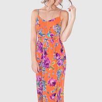Daydreamin' In The Park Maxi Dress - Coral