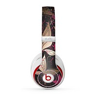 The Gold & Pink Abstract Vector Butterflies Skin for the Beats by Dre Studio (2013+ Version) Headphones