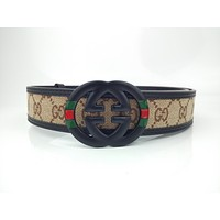 GUCCI Stylish high-end joker belt with smooth buckle belt-3