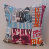 Retro Pillow Cover in Fashion Magazine