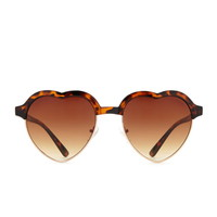 Heart-Shaped Sunglasses | Forever 21 - 1000185819