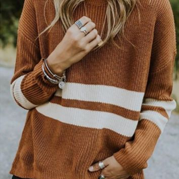 New color matching sweater women's clothing