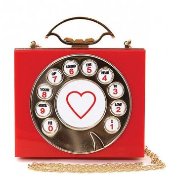Clutch - Retro Hotline Rotary Dial Phone Shoulder Clutch
