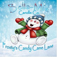 Frosty's Candy-Cane Lane Natural Hand Poured Soy Candles