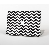 The Black and White Zigzag Chevron Pattern Skin Set for the Apple MacBook Air 13""