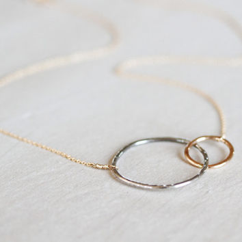 Gift /Gift for Her / Mother Daughter / Eternity / Eternity Necklace / Best Friend / Couple Necklace / Gold Silver Necklace / Unique Gift