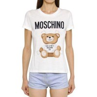 White New Sexy T-shirt Top Tee Bear Moschino For Women