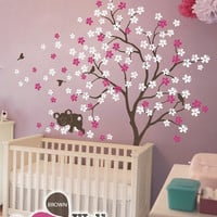 """Baby Nursery Wall Decals - Tree Wall Decal - Koala Decal - Large: approx 85"""" x 76"""" - KC013"""