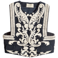 Embroidered Cotton Vest - from H&M