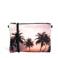 New Look   New Look Palm Tree Clutch at ASOS