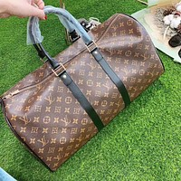 LV Louis Vuitton fashion printed letters men and women large capacity handbag luggage bag