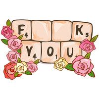 Sara Eshak's F**K You Wall Decal
