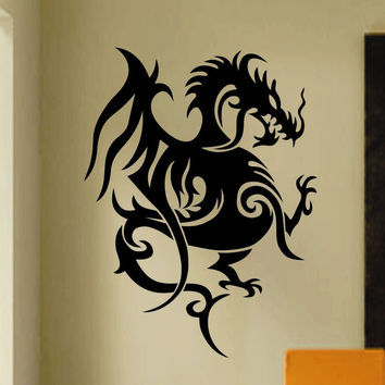 Tribal Dragon Tattoo Decal | Vinyl Wall Lettering | Wall Quotes