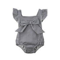 Alessia Striped Bow Playsuit