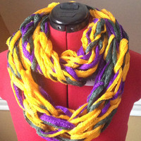 Mardi Gras/Carnival Themed Infinity Scarf