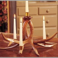 Whitetail Antler Candelabra with Four Candle Cups