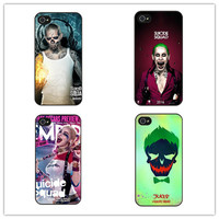 FREE Suicide Squad Joker Harley Quinn Hard Phone Case For iPhone 4 4S 5 5S SE 5c 6 6s Plus