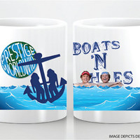 BOATS AND HOES- custom mug- step brothers