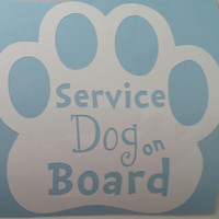 "Car Decal ""Service Dog on Board"""