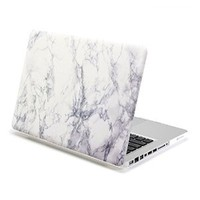 GMYLE Hard Shell Case Cover for 13-Inch MacBook Pro (A1278) - Frosted White Marble Pattern (NPL510088)