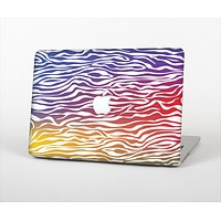 The Colorful Vector Zebra Animal Print Skin Set for the Apple MacBook Pro 15""