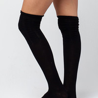 FULL TILT 3 Pack Scrunch Top Womens Knee High Socks | Socks