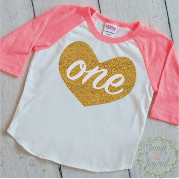First Birthday Shirt Girl First Birthday Outfit 1 Year Old Birthday Shirt Girl Outfit Raglan 1st Birthday Shirt Golden Birthday 011