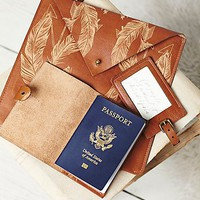 Understated Leather for Free People Womens Leather Travel Set