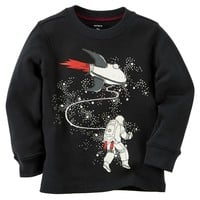 Carter's Glow-In-The-Dark Astronaut Thermal Tee - Toddler Boy, Size: