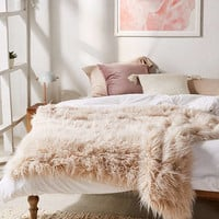 Marisa Tipped Faux Fur Throw Blanket | Urban Outfitters