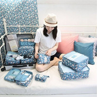 6Pcs Waterproof Clothes Travel Storage Bags Packing Cube Luggage Toiletry Bag Organizer Pouch Home Organization