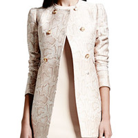 Stella McCartney Double-Breasted Python-Print Blazer
