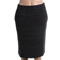 Theyskens Theory Womens Silk Lined Textured Pencil Skirt