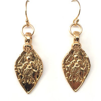 Epona Gold Plated Bronze Earrings