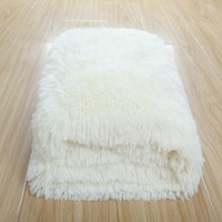 CaliTime Super Soft Throw Plush Faux Fur 60 X 80 Inches Ivory