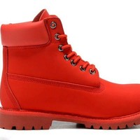 Timberland Rhubarb Boots 10061 2018 Red Waterproof Martin Boots