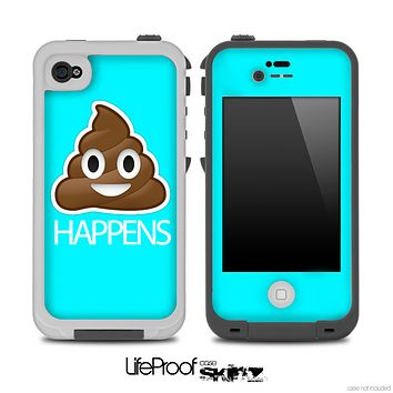 Turquoise Crap Happens Skin for the iPhone 5 or 4/4s LifeProof Case