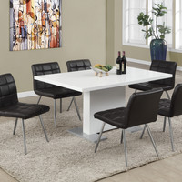 """Dining Table - 35""""X 60"""" - High Glossy White"""