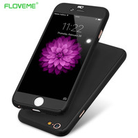 Floveme i6 /6S /Plus 360 Degree Full Coverage Case for Apple iPhone 6 /6S /Plus Hard PC Front Clear Screen Film Protective Cover