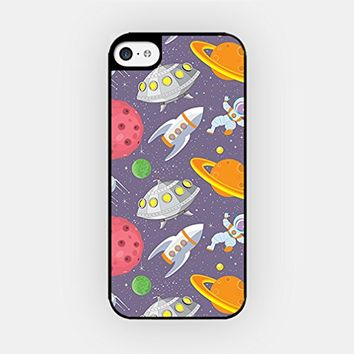 for iPhone 6/6S - High Quality TPU Plastic Case - Spaceship Pattern - Outspace Pattern - Cute Pattern