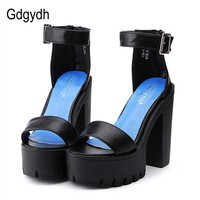 Womens Sandal Shoes Thick Heels Sandals Platform Casual Shoes
