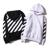 Genuine Off White Brand Hoodie With the Off White Tags Religious Fleece Hoodie Sweatshirts Cotton Hoodies Blcakc White Colors