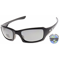 Oakley Fives Squared Sunglasses OO9238-06 Black | Black Iridium Polarized Lens