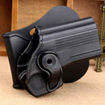 Tactical Black Right Hand Gun Holster Pistol Holster Gun Case Pouch Protection for Taurus 24 7 Taurus 24 7-OSS Paddle Hunting