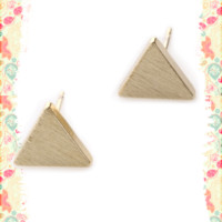 Tiny Bermuda Triangle Earrings